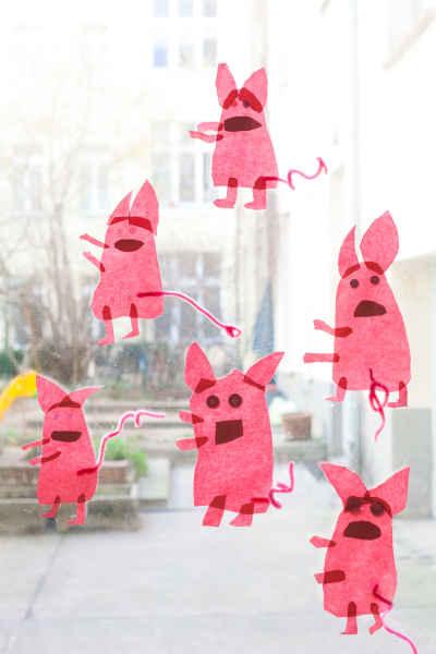 Wir begrüßen das Jahr des Schweines mit selbstgebastelten Glücksbringern.